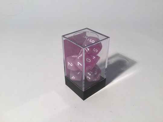 Gaming Dice • Dobbelsteentjes • Polyhedral 7 st • frosted purple