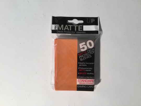 Pokemon • Deck protector sleeves • 1 pack • 50 st • Matte Orange