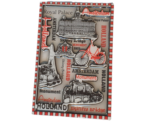Magnet grey and red amsterdam highlights
