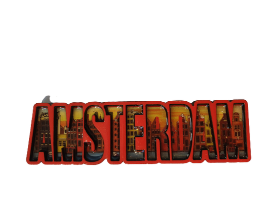 Magnet Amsterdam letters red