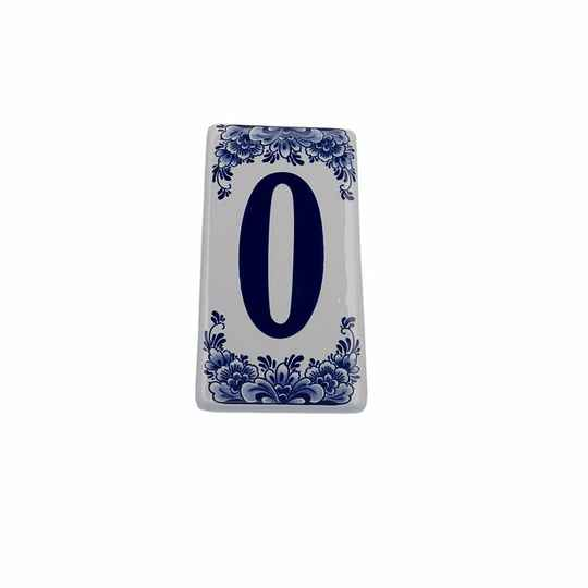 House number sign 0