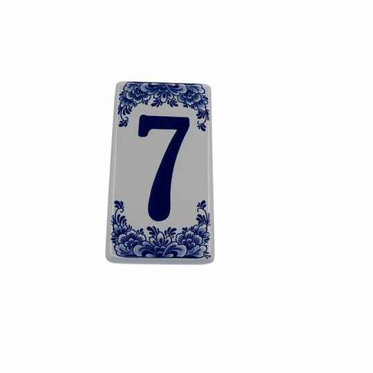 House number sign 7