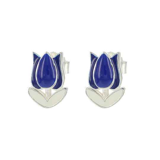 Blue Tulip earrings