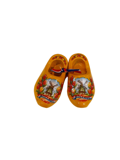 Wooden shoes 8 cm yellow