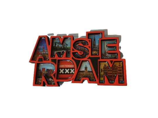 Magnet letters Amsterdam red XXX