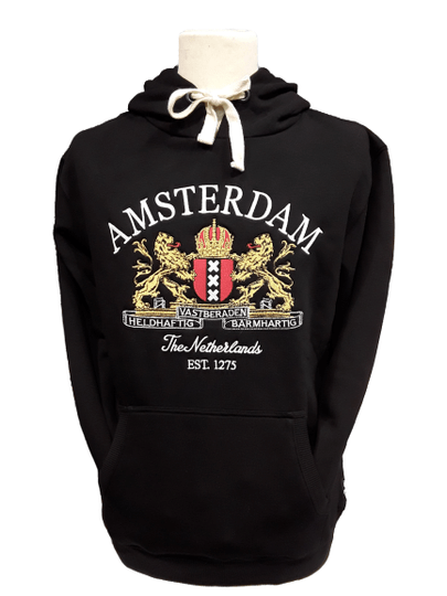 City Arms black Hooded sweater
