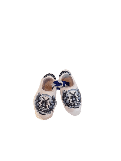 Wooden shoes 6 cm delftblue