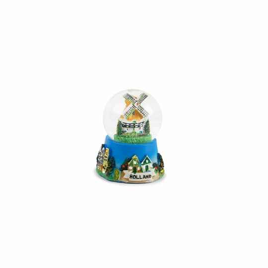 Snowglobe Windmill tulipfield
