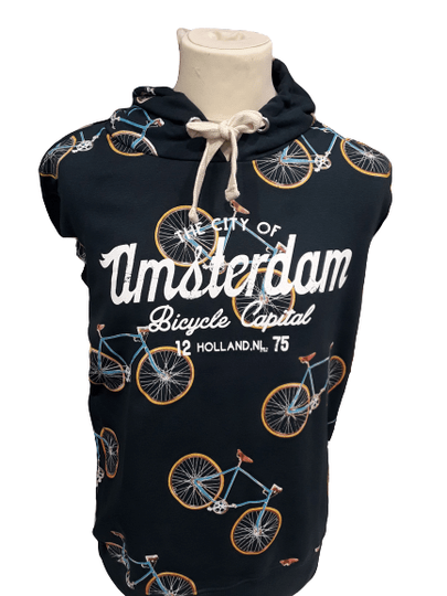 Bikes all over Blue Hooded sweater