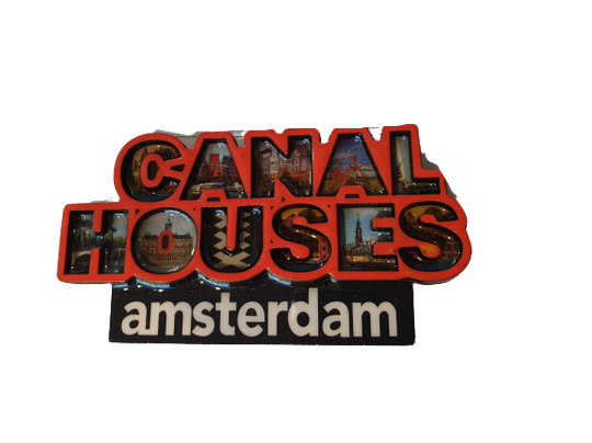 Magnet canal houses letters