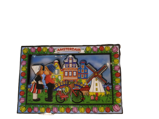 Magnet kissing couple colorfull