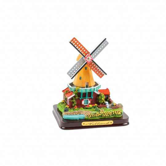 Polystone windmill- Red and Yellow