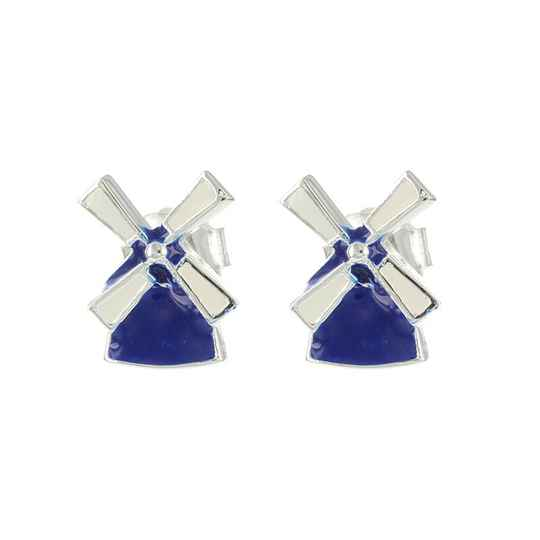 Blue Windmills earrings