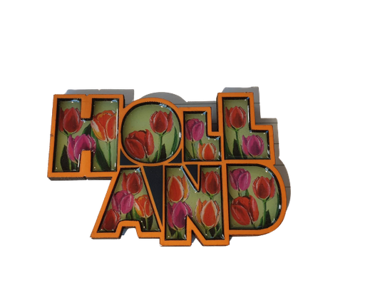 Magnet letters Holland tulips