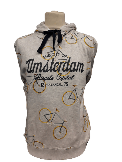 Grey Bikes all over Hooded sweater