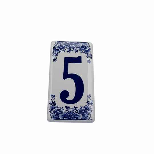 House number sign 5