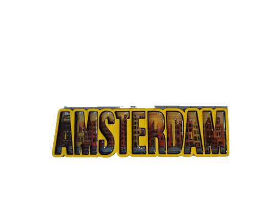 Magnet Amsterdam letters yellow