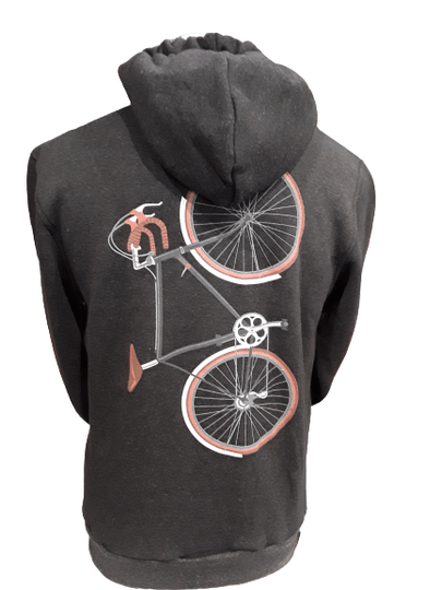 Vertical Bike Hooded sweater with zip