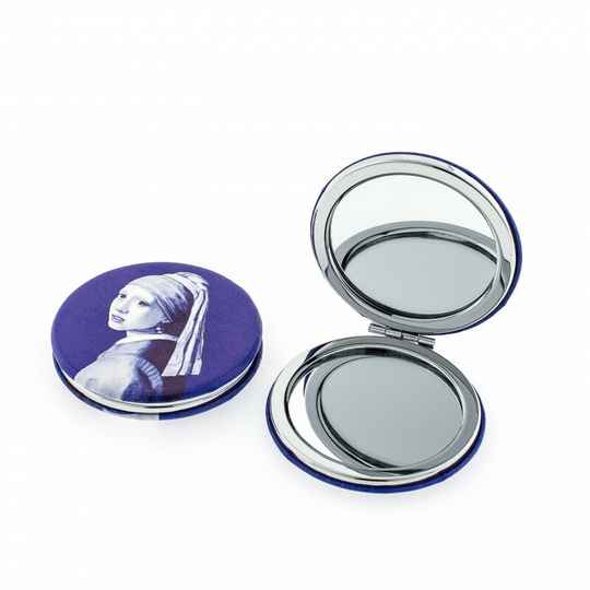 Mirror round Girl with pearl