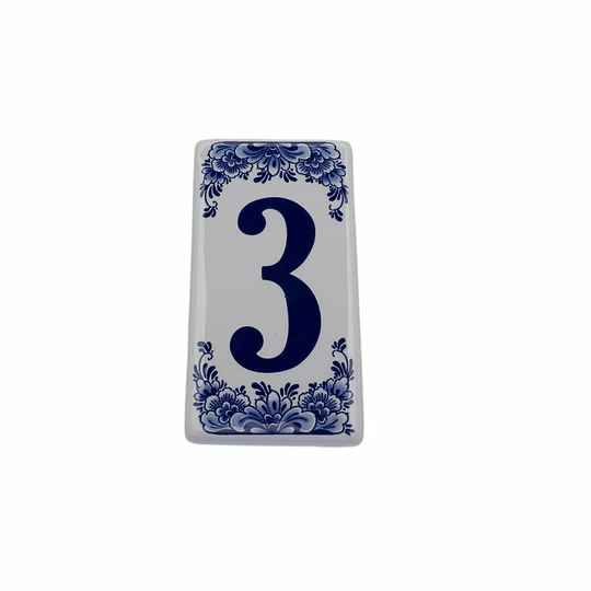 House number sign 3