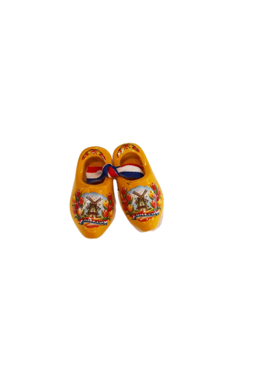 Wooden shoes 5 cm yellow