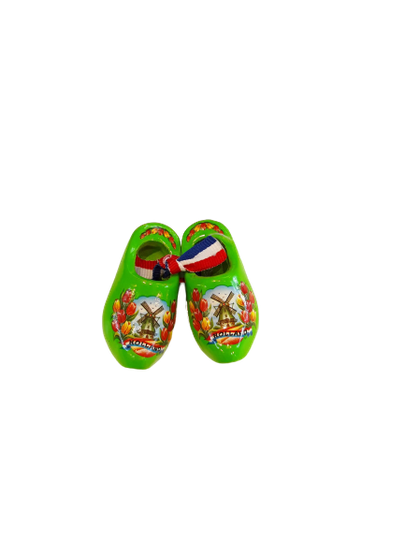 Wooden shoes 5 cm lime