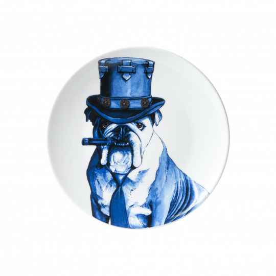 Plate: Dog with Cigar