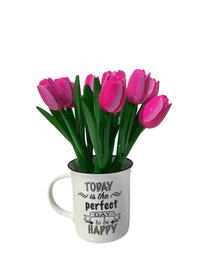 10 wooden tulips small