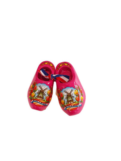 Wooden shoes 6 cm pink