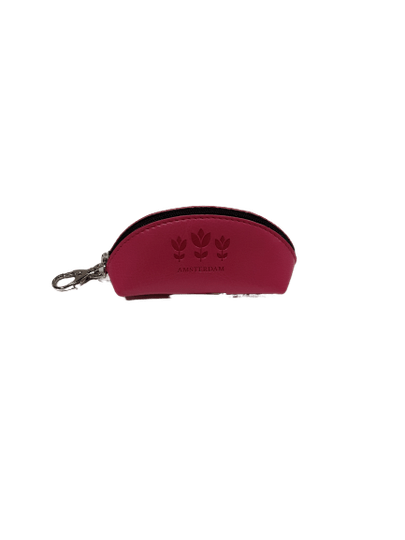 Eco leather wallet for coins with keyring