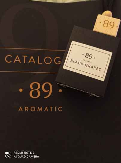 Aromatic 89 black grapes carfreshner
