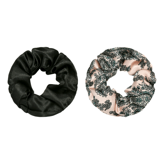 Scrunchie Double Black/Pink