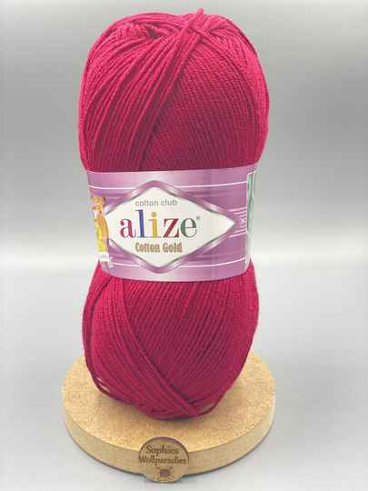 Alize Cotton Gold  390 weinrot