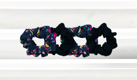 Combi Black Noir + Flower PWR scrunchie