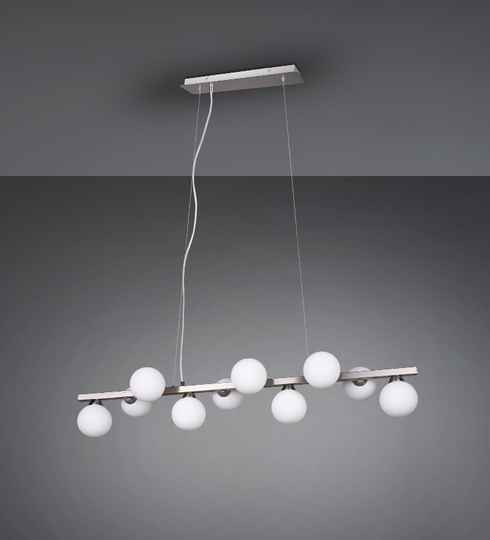 Hanglamp Alicia 100 cm staal wit/zilver