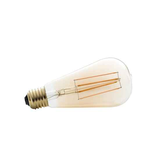 spaarlamp led E27 4W glas 14 cm warm wit