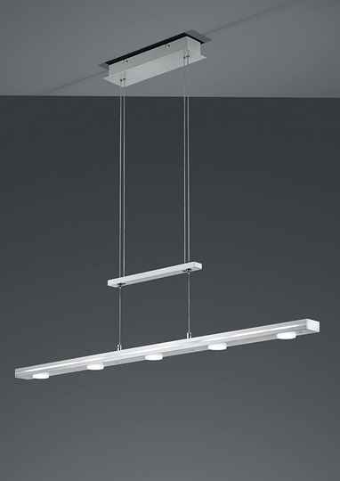 Hanglamp Lacal 160 cm led staal/acryl zilver/wit
