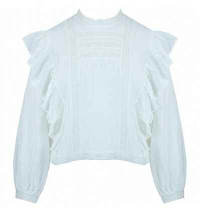 Top met broderie Raen | wit.