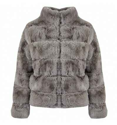 Korte, warme faux fur jas Kelly | 4 kleuren.