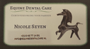 Nicole Seyen Equine Dental Care