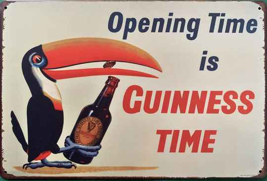 Opening time is Guiness time