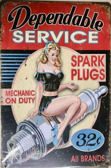 Dependable service, pin-up