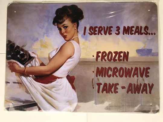 Microwave pin-up