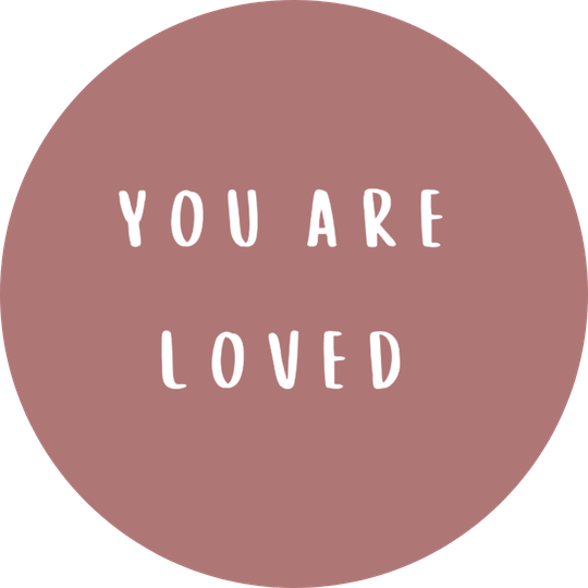 Sticker You are Loved ∅ 63 mm | 3 st 🌱