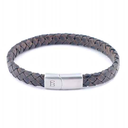 Leather bracelet Riley - Vintage brown