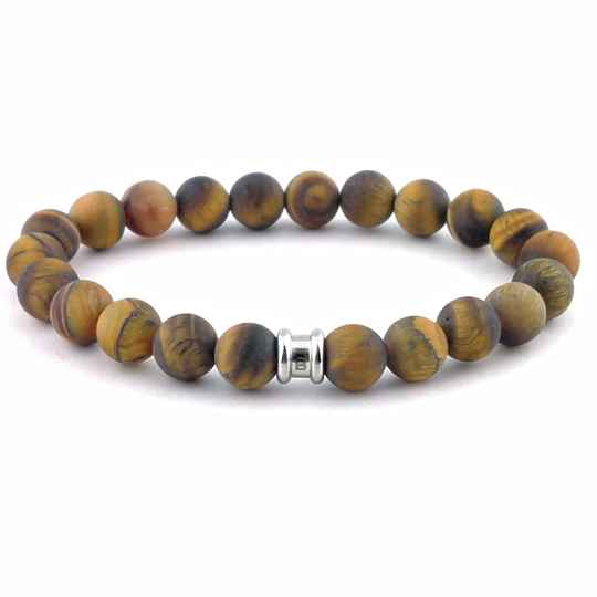 Stones bracelet basic - Matt tiger
