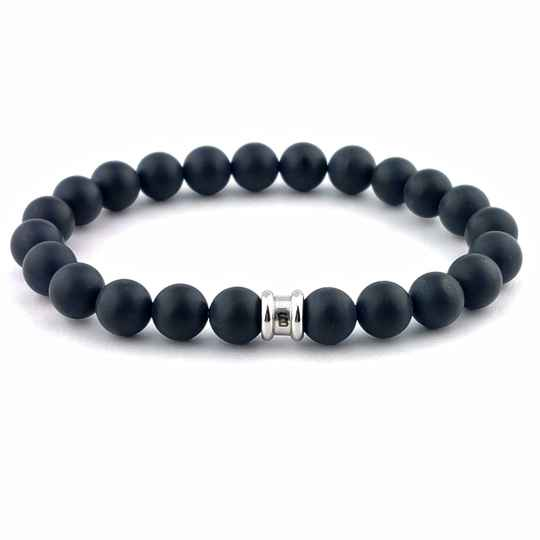 Stones bracelet basic - Matt black