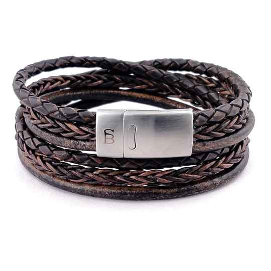 Leather bracelett Bonacci  Dark brown