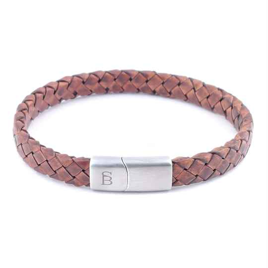 Leather bracelet Riley - Caramel