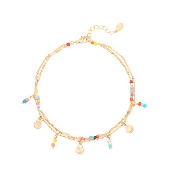 At the beach anklet gold